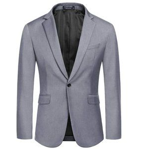 NWT COOFANDY Mens Slim Fit Sport Coat Blazer One B